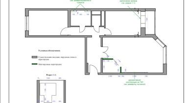 4. План монтажа перегородок – фото от MiniReal