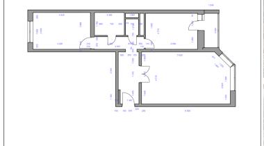 3. План демонтажа перегородок – фото от MiniReal