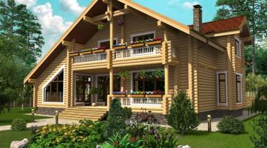 Планировка деревянного дома из бревна – фото от MiniReal