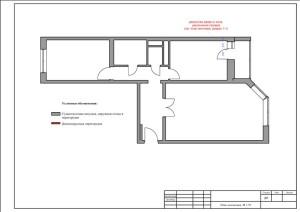 план демонтажа перегородок – фото от MiniReal