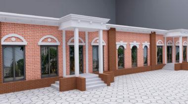Эскиз фасада здания – фото от MiniReal