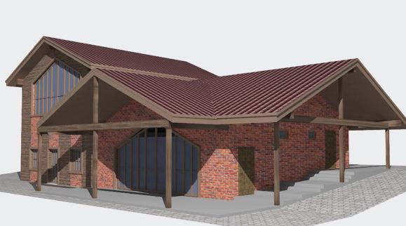 Эскиз фасада дома – фото от MiniReal